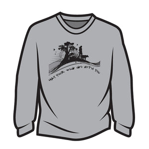 Light Grey May your dog go with you (her) Long Sleeve T-Shirt