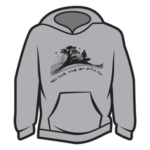 Light Grey May your dog go with you (him) Hoodie