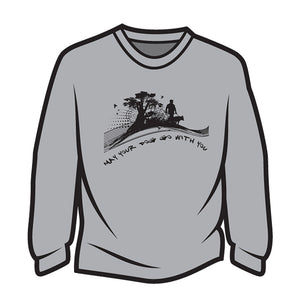 Light Grey May your dog go with you (him) Long Sleeve T-Shirt