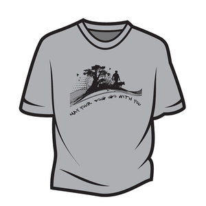 Light Grey May your dog go with you (him) T-Shirt