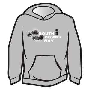 Light Grey South Downs Way Design 1 Hoodie