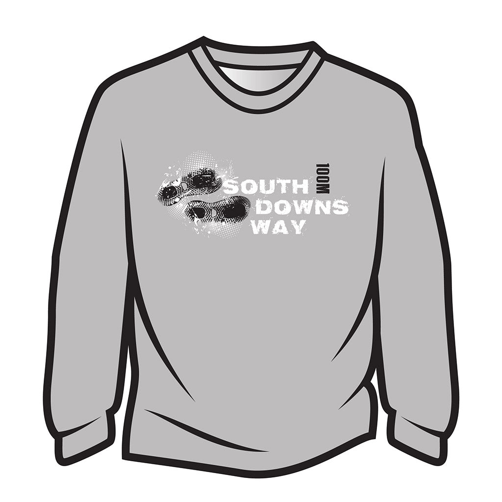 Light Grey South Downs Way Design 1 Sweatshirt