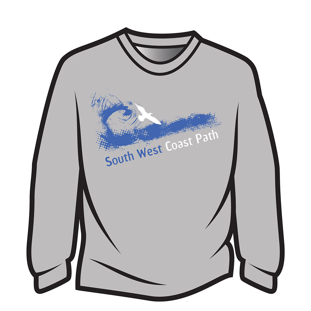 Light Grey South West Coast Path Long Sleeve T-Shirt