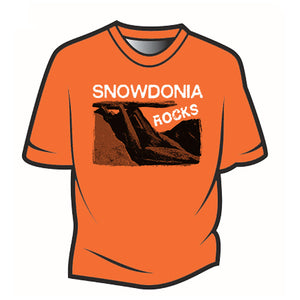 Orange Snowdonia Rocks T-Shirt
