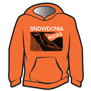 Orange Snowdonia Rocks Hoodie