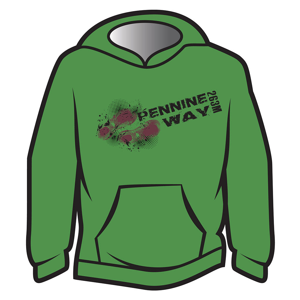 Green Pennine Way Design 1 Hoodie