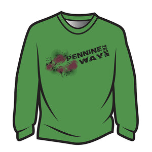 Green Pennine Way Design 1 Long Sleeve T-Shirt
