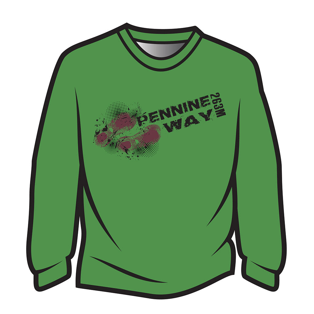 Green Pennine Way Design 1 Sweatshirt