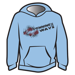 Light Blue Pennine Way Design 1 Hoodie