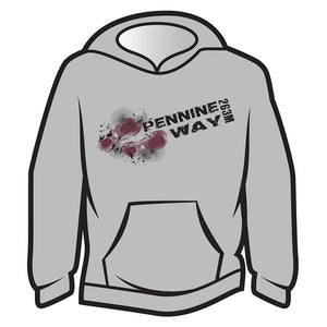 Light Grey Pennine Way Design 1 Hoodie