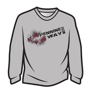 Light Grey Pennine Way Design 1 Long Sleeve T-Shirt
