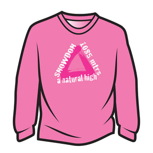 Pink Snowdon Long Sleeve T-Shirt