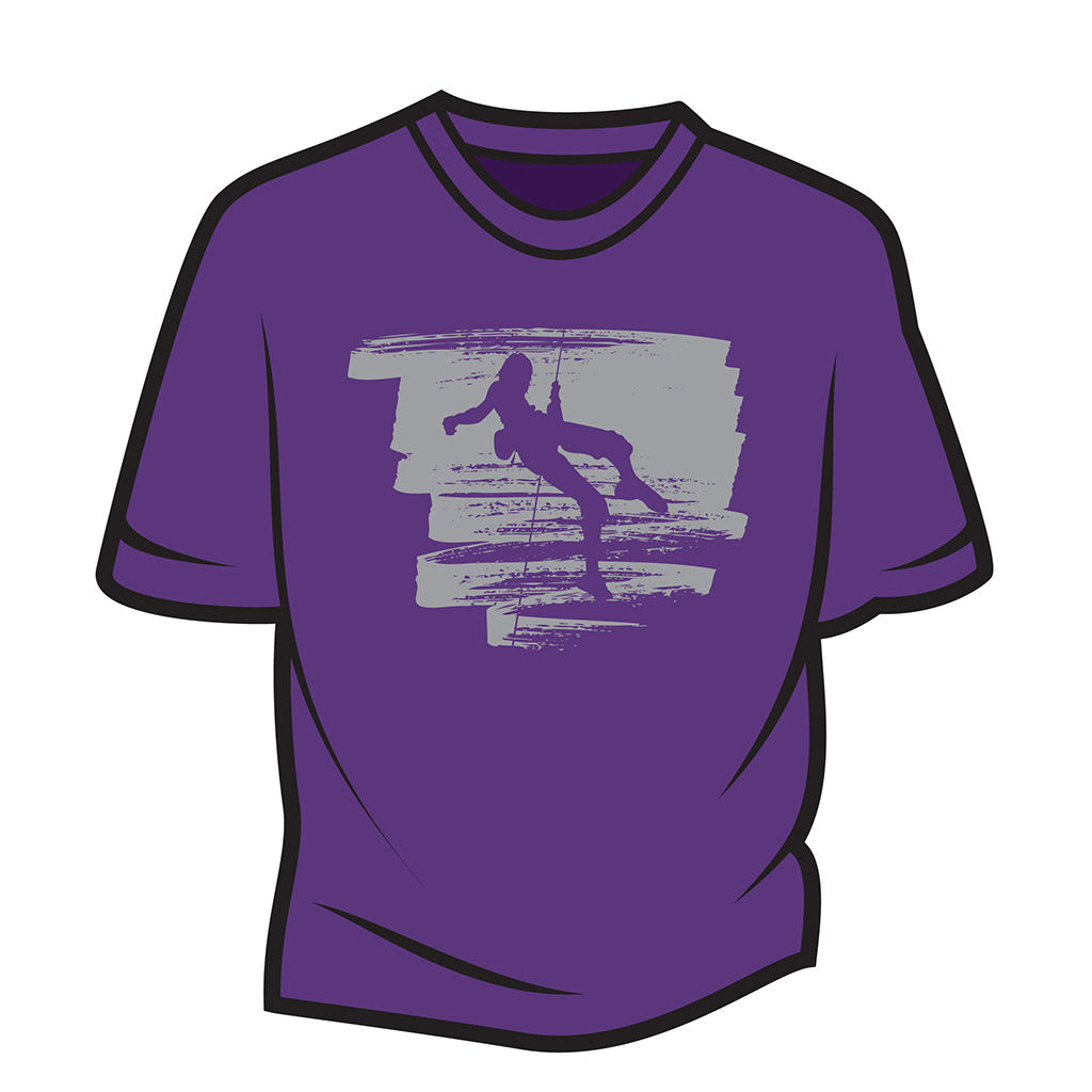 Purple Climber Design 1 T-Shirt
