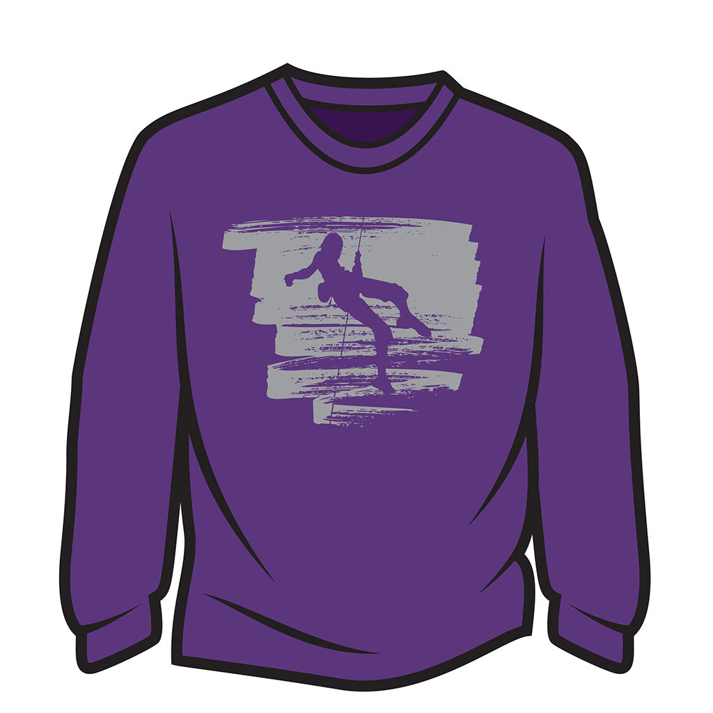 Purple Climber Design 1 Long Sleeve T-Shirt
