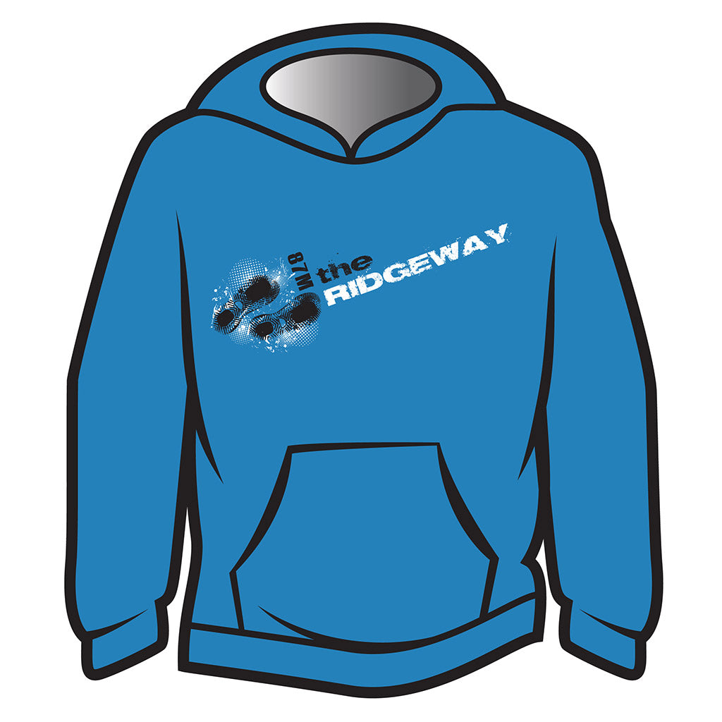 Blue The Ridgeway Design 1 Hoodie