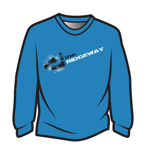 Blue The Ridgeway Design 1 Long Sleeve T-Shirt