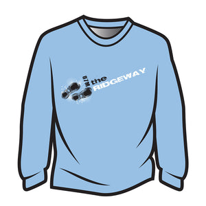Light Blue The Ridgeway Design 1 Long Sleeve T-Shirt