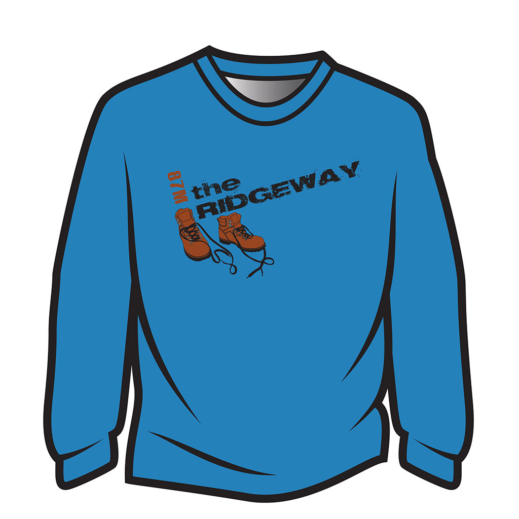 Blue The Ridgeway Design 2 Long Sleeve T-Shirt