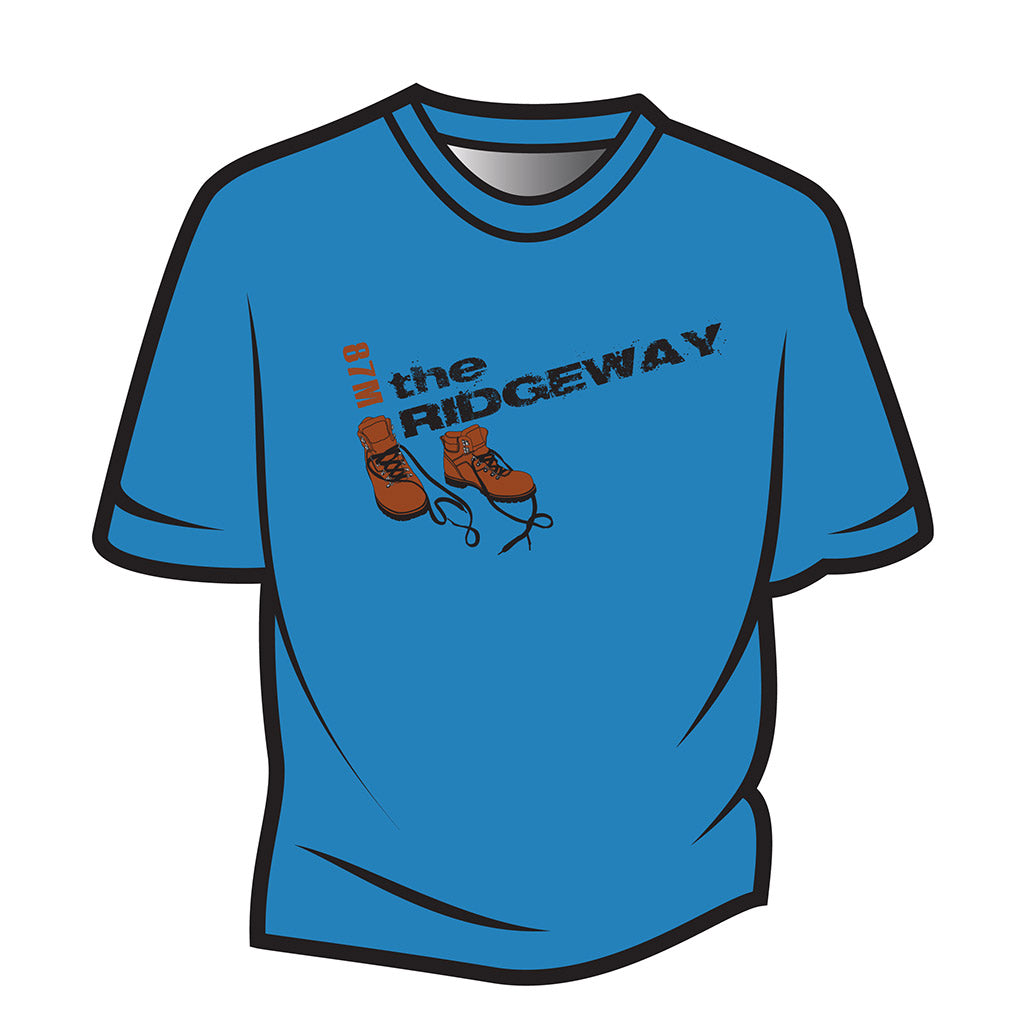 Blue The Ridgeway Design 2 T-Shirt