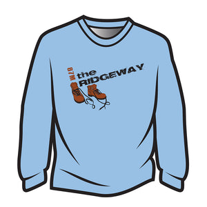 Light Blue The Ridgeway Design 2 Long Sleeve T-Shirt