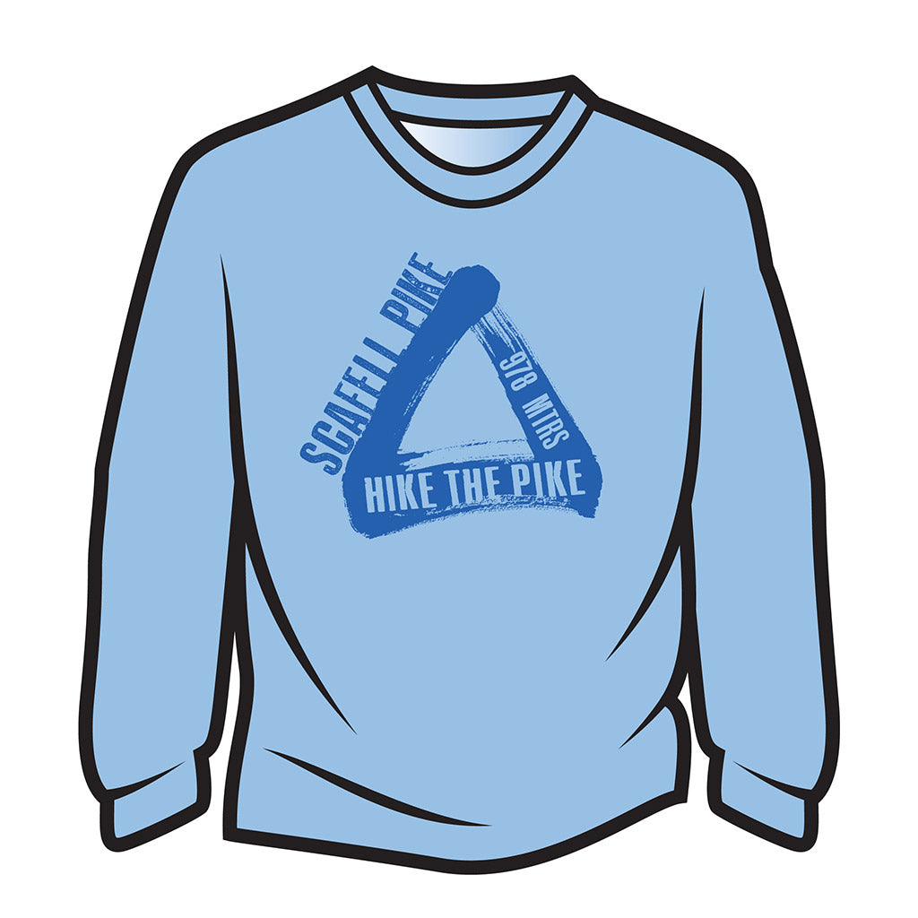Blue Scafell Pike Long Sleeve T-Shirt