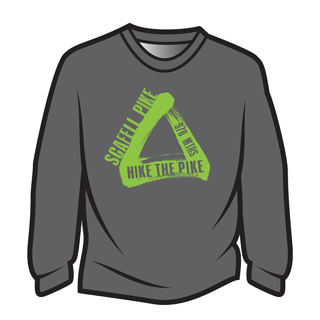 Grey Scafell Pike Long Sleeve T-Shirt