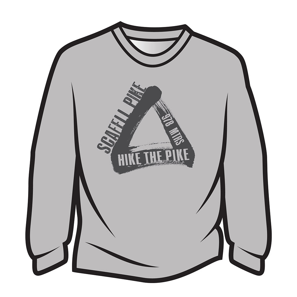 Light Grey Scafell Pike Long Sleeve T-Shirt