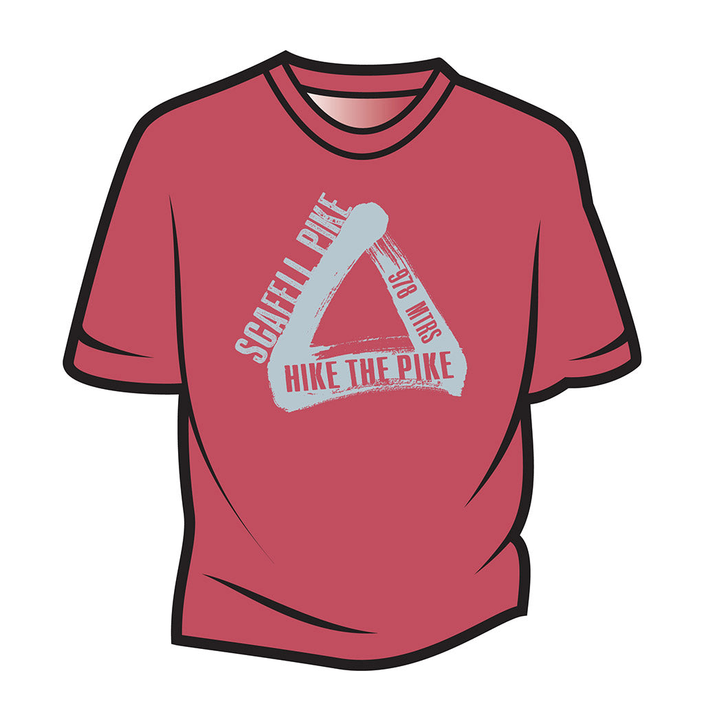 Red Scafell Pike T-Shirt