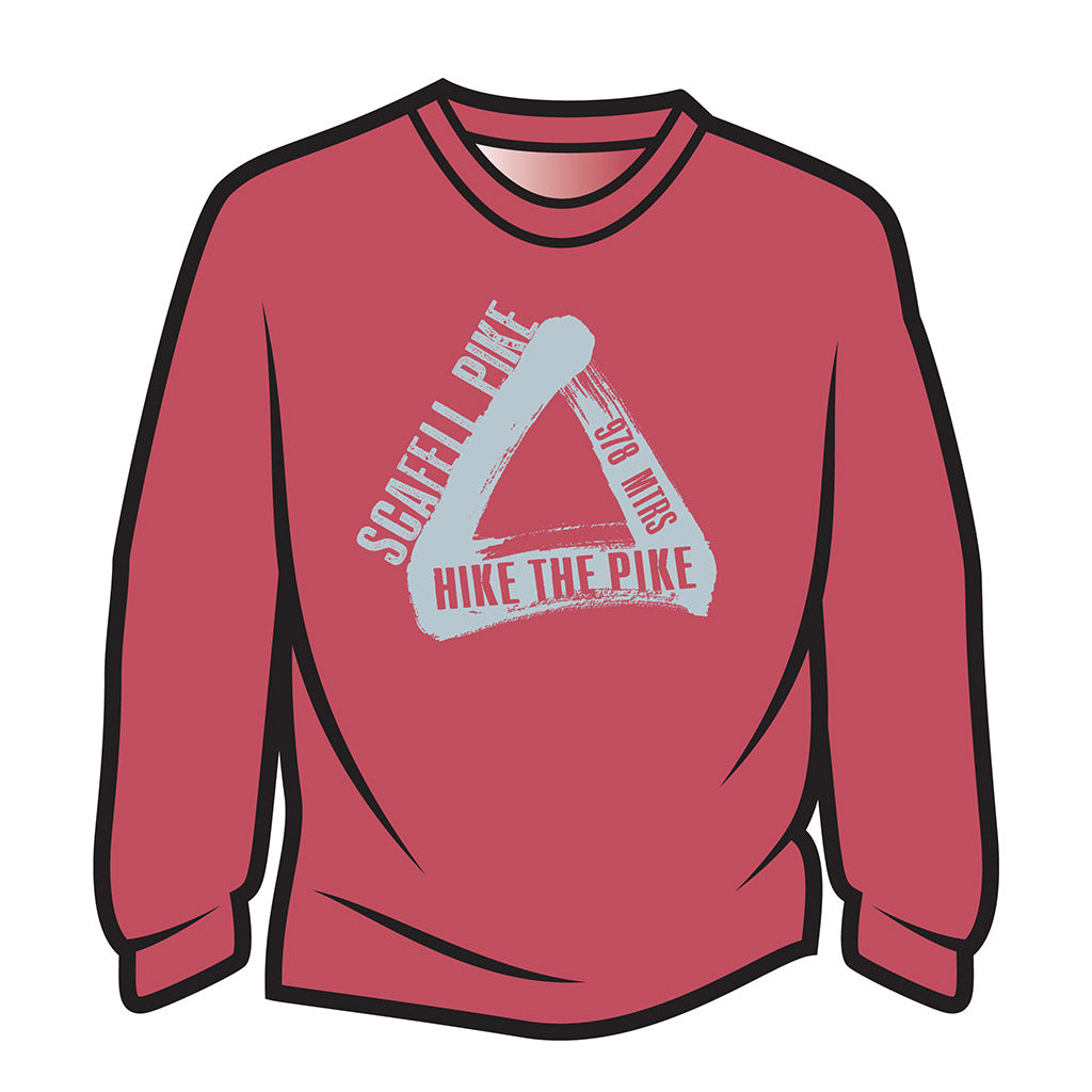 Red Scafell Pike Long Sleeve T-Shirt