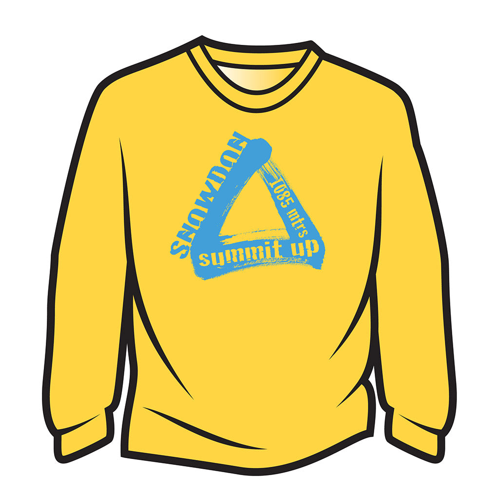 Yellow Snowdon Long Sleeve T-Shirt