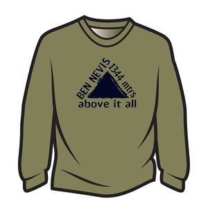 Khaki Ben Nevis Long Sleeve T-Shirt