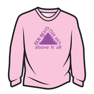 Pink Ben Nevis Long Sleeve T-Shirt