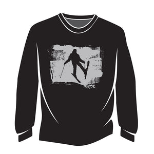 Black Skier Design 2 Long Sleeve T-Shirt