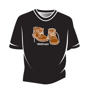 Black climbitrange Boots T-Shirt
