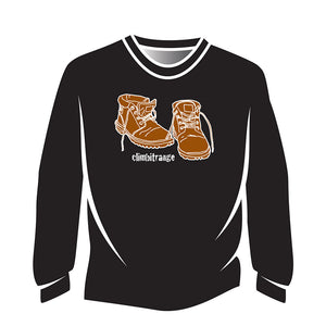 Black climbitrange Boots Long Sleeve T-Shirt