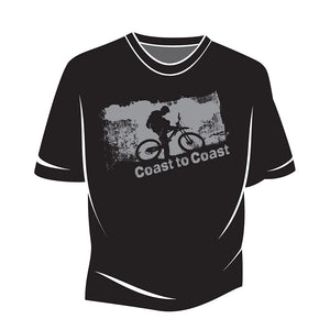 Black Coast to Coast Biker T-Shirt