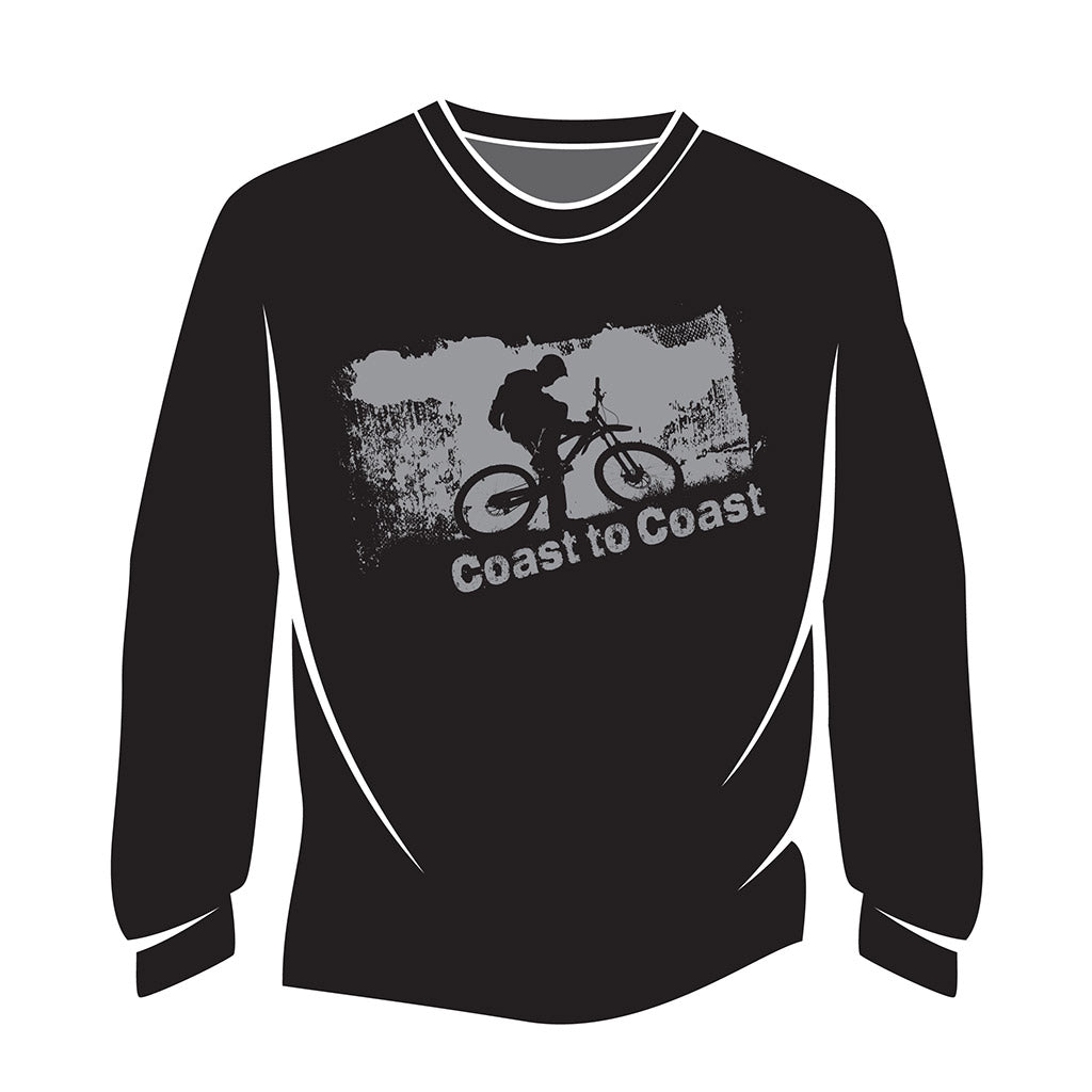 Black Coast to Coast Biker Long Sleeve T-Shirt