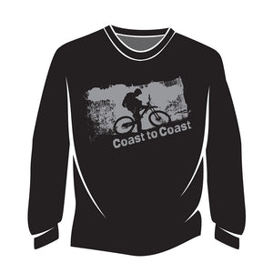Black Coast to Coast Biker Sweatshirt