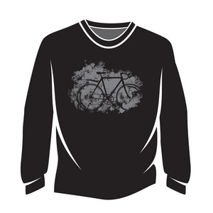 Black Road bike Long Sleeve T-Shirt