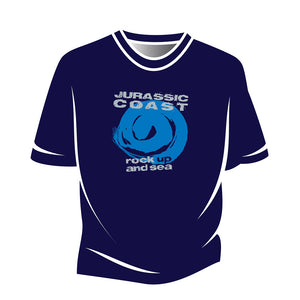 Blue Jurassic Coast Design 1 T-Shirt