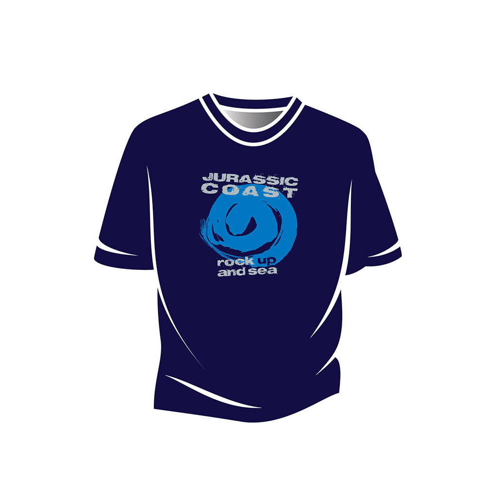 Blue Jurassic Coast Design 1 Kids T-Shirt