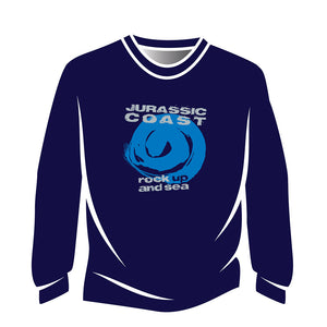 Blue Jurassic Coast Design 1 Long Sleeve T-Shirt