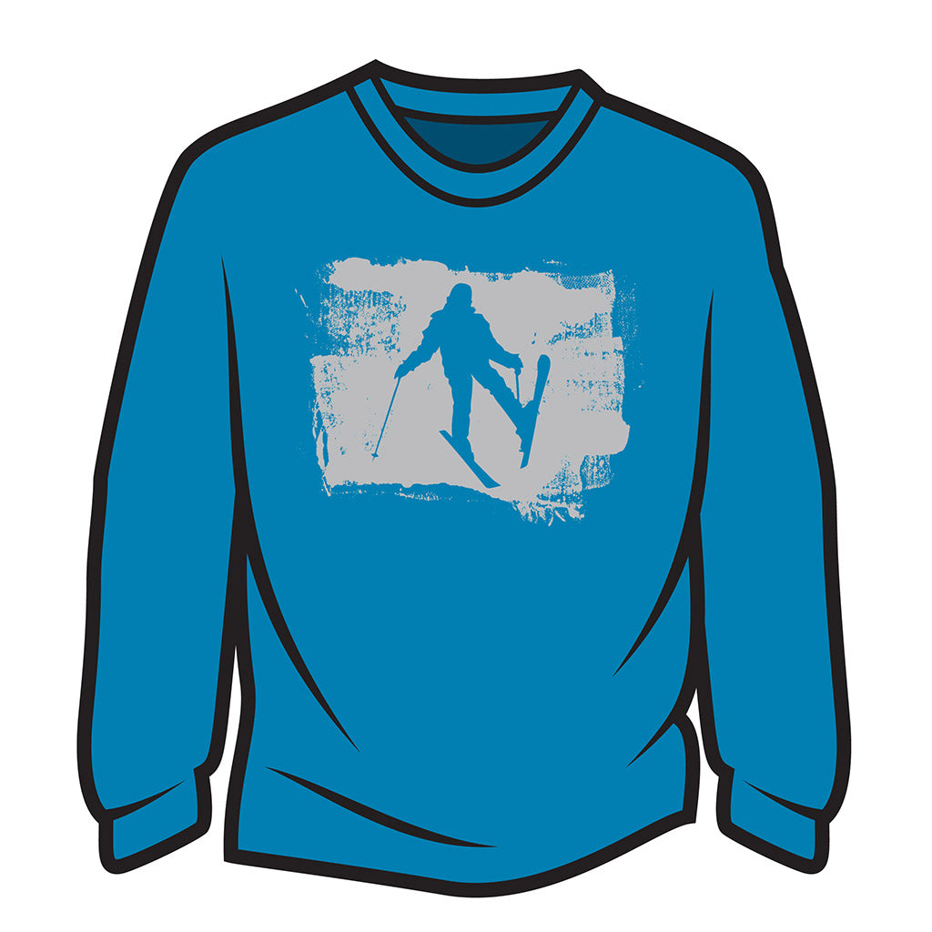 Blue Skier Design 2 Sweatshirt