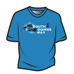 Blue South Downs Way Design 1 T-Shirt