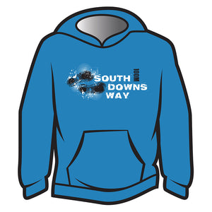 Blue South Downs Way Design 1 Hoodie
