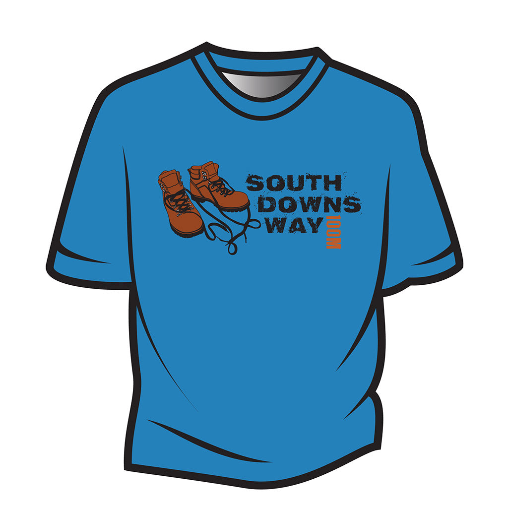 Blue South Downs Way Design 2 T-Shirt