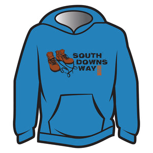 Blue South Downs Way Design 2 Hoodie