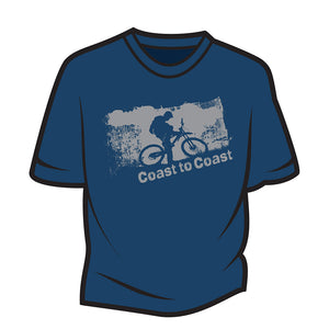 Dark Blue Coast to Coast Biker T-Shirt