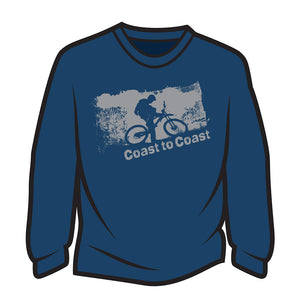 Dark Blue Coast to Coast Biker Sweatshirt