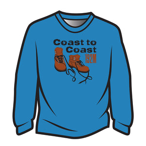 Dark Blue Coast to Coast Long Sleeve T-Shirt